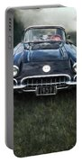 Car On The Grass Portable Battery Charger