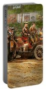 Car - Race - The End Of A Long Journey 1906 Portable Battery Charger