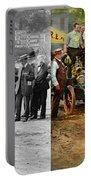 Car - Race - The End Of A Long Journey 1906 - Side By Side Portable Battery Charger