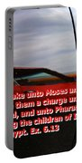 Car Reflection With Text 4 Portable Battery Charger