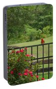 Cardinal On Fence Portable Battery Charger