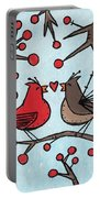 Cardnials In Love Portable Battery Charger