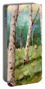 Carefree Birches Portable Battery Charger