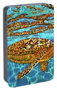 Caribbean Hawksbill Sea Turtle Portable Battery Charger