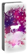 Caribou Winter Art Portable Battery Charger
