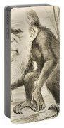 Caricature Of Charles Darwin Portable Battery Charger