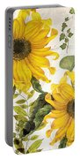 Carina Sunflowers Portable Battery Charger