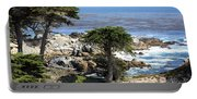 Carmel Seaside With Cypresses Portable Battery Charger