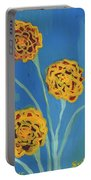 Carnations Against A Summer Sky Portable Battery Charger