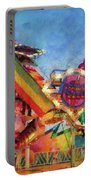 Carnival - A Most Colorful Ride Portable Battery Charger by Mike Savad