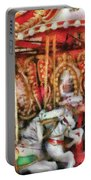 Carnival - The Carousel - Painted Portable Battery Charger by Mike Savad