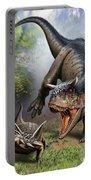 Carnotaurus Attacking An Antarctopelta Portable Battery Charger