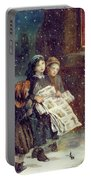 Carols For Sale  Portable Battery Charger by Augustus Edward Mulready