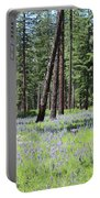 Carpet Of Lupine In Washington Forest Portable Battery Charger