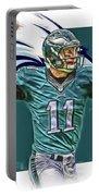 Carson Wentz Philadelphia Eagles Oil Art Portable Battery Charger