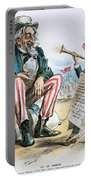 Cartoon: Uncle Sam, 1893 Portable Battery Charger