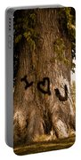 Carve I Love You In That Big White Oak Portable Battery Charger