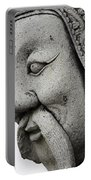 Carved Monk Statue Portable Battery Charger