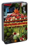 Carved Watermelon, Surin Elephant Portable Battery Charger