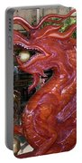 Carved Wood Dragon With Ball In Mouth Portable Battery Charger