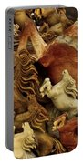 Carvings In Jade - 6 - Wild Horses  Portable Battery Charger