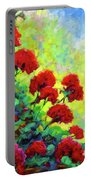 Cascade Of Geraniums Portable Battery Charger
