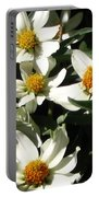 Cascade Of White Flowers Portable Battery Charger