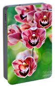 Cascading Miniature Orchids Portable Battery Charger