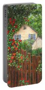 Cascading Roses Portable Battery Charger