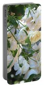 Cascading White Roses Portable Battery Charger