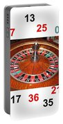 Casino Roulette Wheel Lucky Numbers Portable Battery Charger