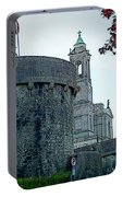 Castle And Church Athlone Ireland Portable Battery Charger