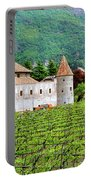 Castle And Vineyard In Italy Portable Battery Charger