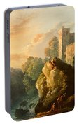 Castle And Waterfall Portable Battery Charger