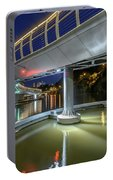 Castle Bridge C By Night Bristol England Portable Battery Charger
