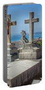 Castle Hill Graves Overlooking Nice, France Portable Battery Charger