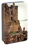 Castle Ruins On The Seashore In Ireland Portable Battery Charger