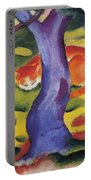 Cat Behind A Tree Portable Battery Charger