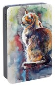 Cat In Backlight Portable Battery Charger