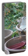 Cat In Flowerpot Portable Battery Charger