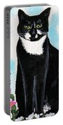 Cat In The Garden Portable Battery Charger