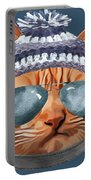 Cat Kitty Kitten In Clothes Aviators Toque Beanie Portable Battery Charger