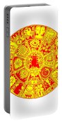 Cat Mandala Yellow And Red Portable Battery Charger