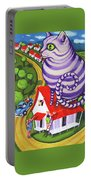 Cat On A Red Tin Roof Portable Battery Charger