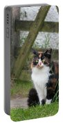 Farm Cat On Duty Portable Battery Charger
