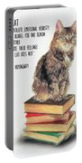 Cat Quote By Ernest Hemingway Portable Battery Charger