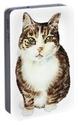 Cat Watercolor Illustration Portable Battery Charger