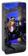 Cat Woman In London Portable Battery Charger