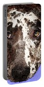 Catahoula Leopard Dog - Soulful Eyes Portable Battery Charger by Sharon Cummings