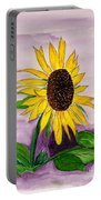 Catching A Sunflower  Portable Battery Charger